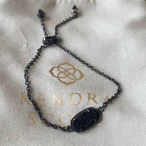 Kendra Scott, black druzy bracelet